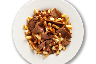 Donair Poutine at Mezza Lebanese restaurant and take out in Halifax NS