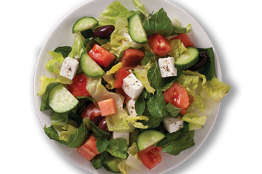 Greek salad at Mezza Lebanese in Halifax NS