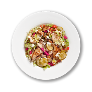 Chicken shawarma bowl at Mezza Lebanese Restaurant and Take out - gluten free