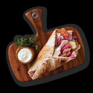 Chicken Shawarma wrap at Mezza Lebanese in Halifax NS